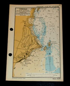 Details about SALE - CANCALE, Invasion Planning of France, WW2 Naval  Military Map 1943