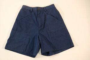 Columbia-womens-size-8-cargo-shorts-blue-hiking-cotton