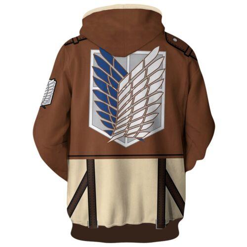 Anime Attack on Titan Shingeki no Kyojin Hoodie Cosplay Jacket Sweatshirts Coat