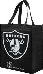 Oakland Raiders Shatter Print Tote Bag