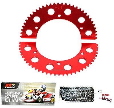 66 Sprocket EK Chain Kit Go Kart Racing 106 Link #35 Mini Bike 35 Pitch Axle Hub