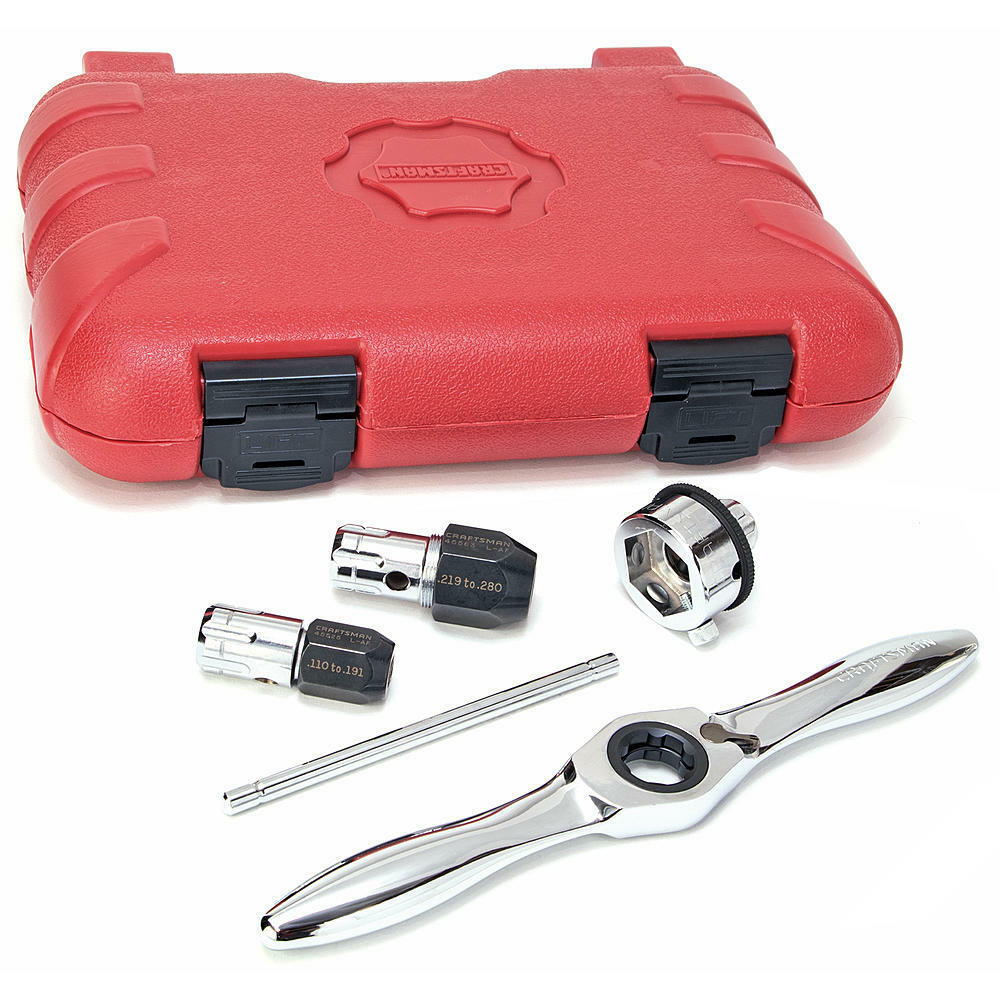 CRAFTSMAN 5 Piece RATCHETING TAP AND DIE SET   917486 - NEW