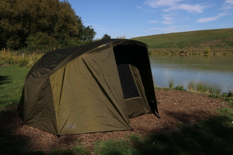 Fox EOS TT Pro Bivvy 1 Man Fishing Shelter + Overwrap Skin Combo *Exclusive*
