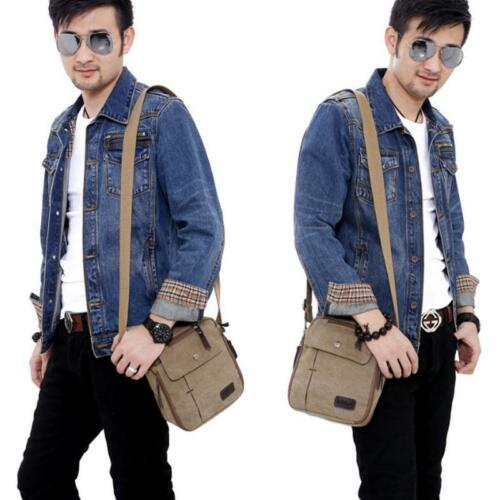 Men/'s Womes Canvas Handbag Shoulder Bag Crossbody Messenger Travel Leisure Bags