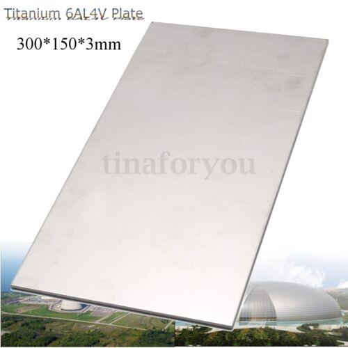 "3mm Thick Silver Industrial Titanium 6AL4V Metal Plate Sheet 12 x 6 x 0 .125/"""