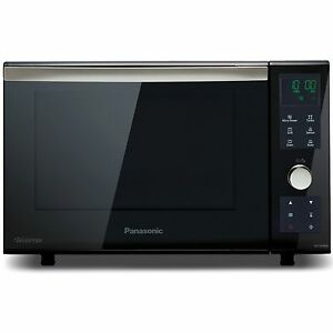 Image Is Loading Panasonic Nn Df386bbpq Combination Flatbed Microwave Black Grade