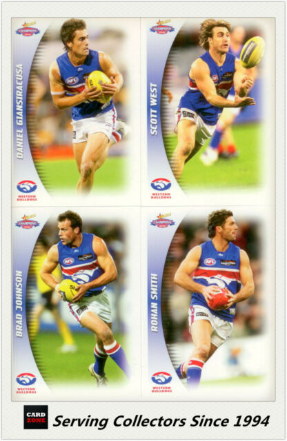 2006 Select AFL Champions Trading Cards Base Team Set Western Bulldogs (10)