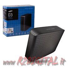 "HARD DISK SAMSUNG 3TB USB 3.0 ESTERNO HD 3,5"" 3000 Gb 3 TERA MUSICA MULTIMEDIAL"