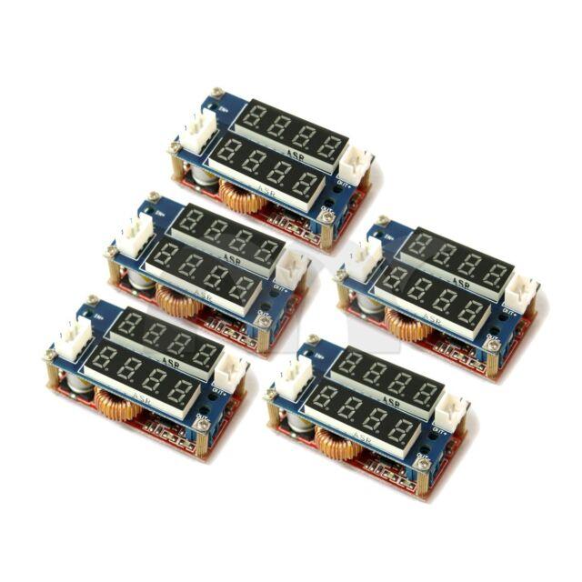 5 Pcs 5A Constant Current/Voltage LED Driver  Charging Module Voltmeter Ammeter