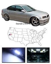 Fits 99-06 BMW E46 4Dr 3-Series sedan Interior White LED Light Bulbs Package X7