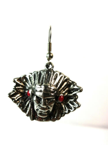 A5 UNIQUE TRIBAL FACE EARRINGS GOTH VINTAGE RETRO  TRENDY BRAND NEW