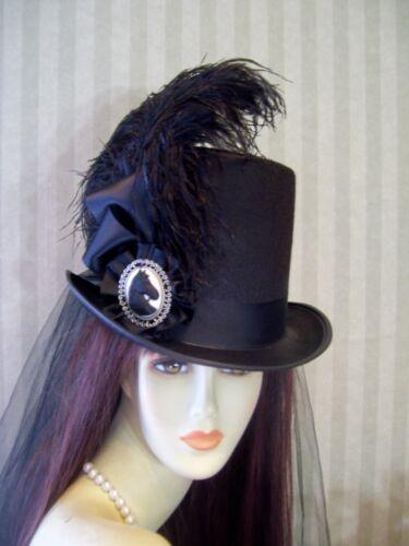 Steampunk Accessories | Goggles, Gears, Glasses, Guns, Mask   Black Top Hat Steampunk Hat Civil War Equestrian Hat Victorian Hat Derby $49.99 AT vintagedancer.com