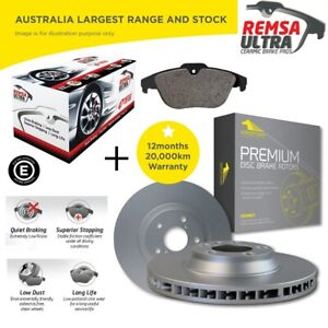 Front-and-Rear-Ceramic-Brake-Pads-and-Disc-Rotors-for-BMW-320i-E90-06-15
