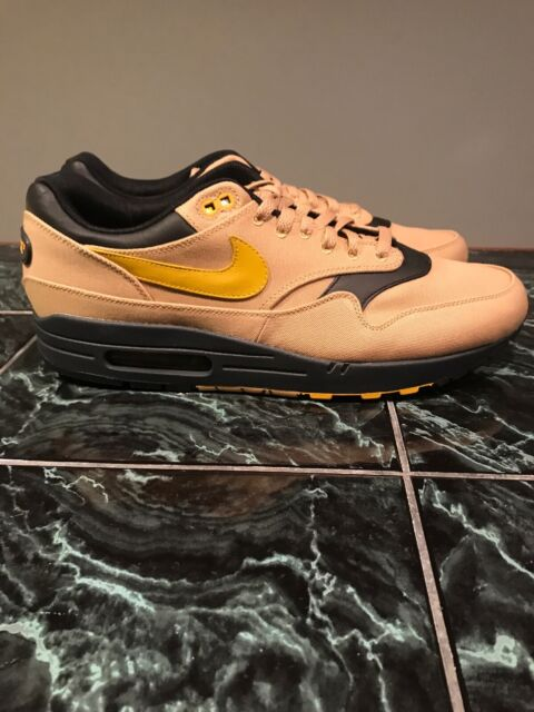 NIKE AIR MAX 1 PREMIUM QS ELEMENT GOLD MINERAL YELLOW 875844 700 Size 13 shoes