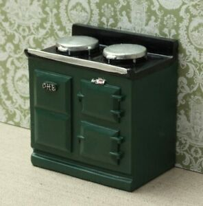 1:12 Dolls House Aga-Style stove - Green