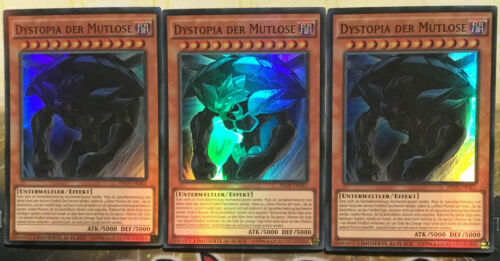 Yu-Gi-Oh SET Super Rare, limitierte Aufl. 3x INOV-DESE1 Dystopia der Mutlose