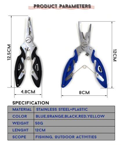 Stainless Steel Fishing Pliers Scissors Line Cutter Split Ring Hook Remover Tool