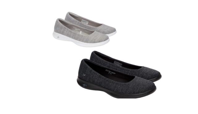 98695246ee45 Skechers Performance Womens Go Step Lite Dark Gray Walking Shoe Flat Slip  on 7