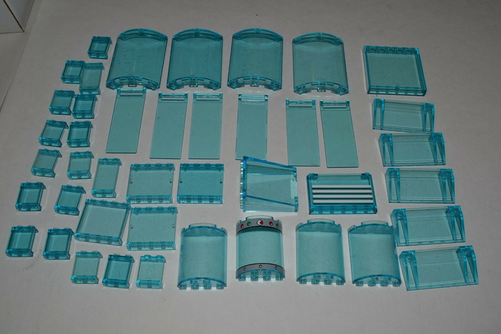 Lego Lot of Transparent Trans-Blau Panels Walls Parts Windows Ice ADKN