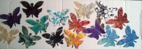 Tela de batik Mariposas restos Pack restos Patchwork Paquete 100/% algodón-BBL3