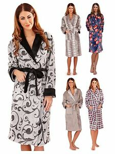 Womens Full Length Dressing Gown Bath Robe Housecoat + Belt Ladies ... 4013dc513
