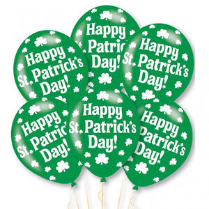6-x-Happy-St-Patrick-039-s-Day-Balloons-Party-Decorations-Air-or-Helium-Fill