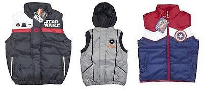 Licensed Darth Vader Star Wars Empire Gilet Jacket Padded Body Warmer for Boys
