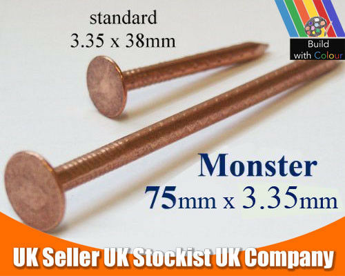 50 x 75mm Copper Nails Very Large Tree Stump Killer Tree Removal Gardening Home