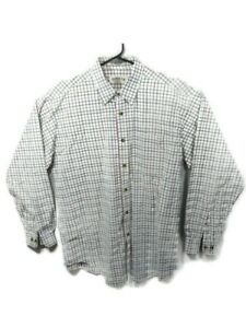 Orvis-Checkered-Long-Sleeve-Button-Shirt-White-Blue-Green-Red-Mens-Size-Large