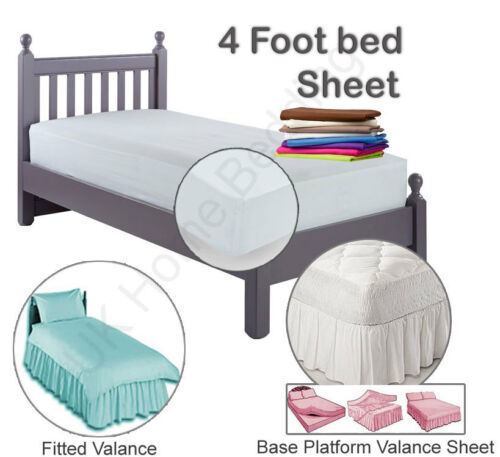 Small Double Three Quarter Size sheets in a variety of pastel colours