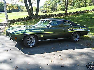 1970-71 Pontiac GTO Judge Stripe Decal Kit White Green Yellow