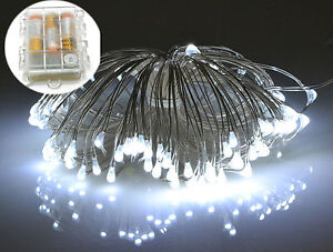 Image Is Loading Micro LED Silver Wire Battery Fairy Rice Lights