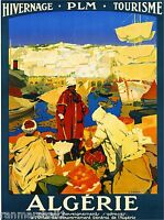 Algeria Tunisia Algerie Tunisie Africa 2 Art Travel Poster Advertisement Print
