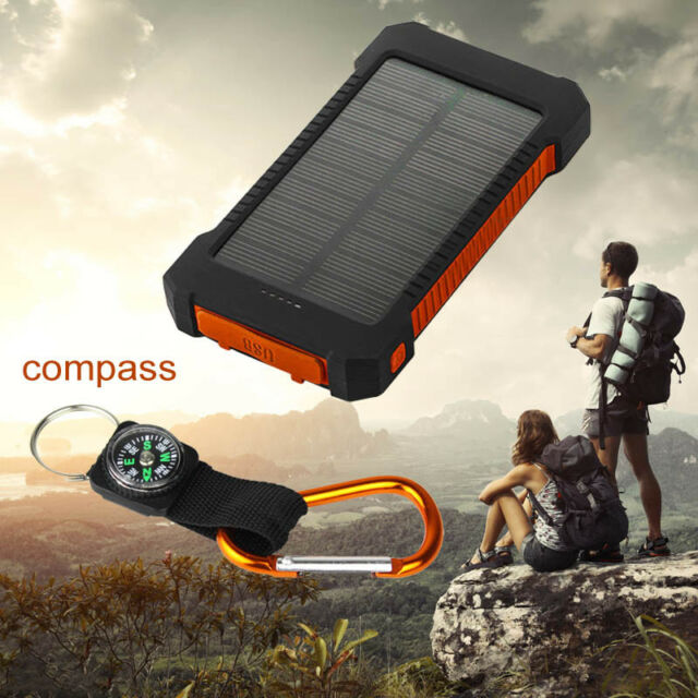 2USB 50000mAh Solar Power Bank External LED Portable Universal Battery Charger
