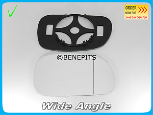 Strong TAPE Right \B012 270 Wing Mirror Glass For BMW Z3 1995-2003 Wide Angle