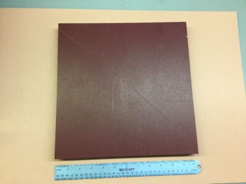 "TEXTURED BOTH SIDES HDPE MACHINABLE PLASTIC SHEET 1/"" X 12/"" X 12/"" RED"