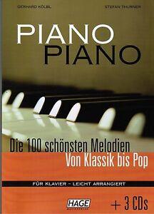 Klavier-Noten-PIANO-PIANO-Band-1-mit-3-CD-039-s-Ausgabe-LEICHT-HAGE-EH-3633