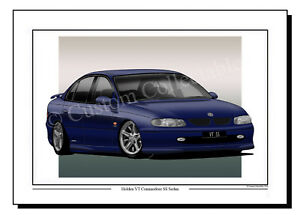 HOLDEN COMMODORE SS-V CRAIG LOWNDES EDN A3 FRAMED PHOTOGRAPHIC PRINT POSTER