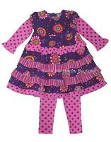 Girls Boutique Cotton Kids 6x Purple Pink Dress Outfit Clothes Fall Winter
