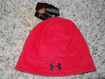 Under Armour Boy/'s Beanie hat Storm ColdGear Infrared Elements OSFA NWT Red
