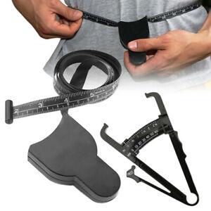 2pc/Set Body Fat Caliper&Mass Measuring Tape Tester Skinfold Fitness Weight Loss