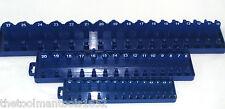 3 GRIP METRIC SOCKET TRAY RACK HOLDER RAILS 92 SOCKETS 1/4 3/8 1/2 DEEP SHALLOW