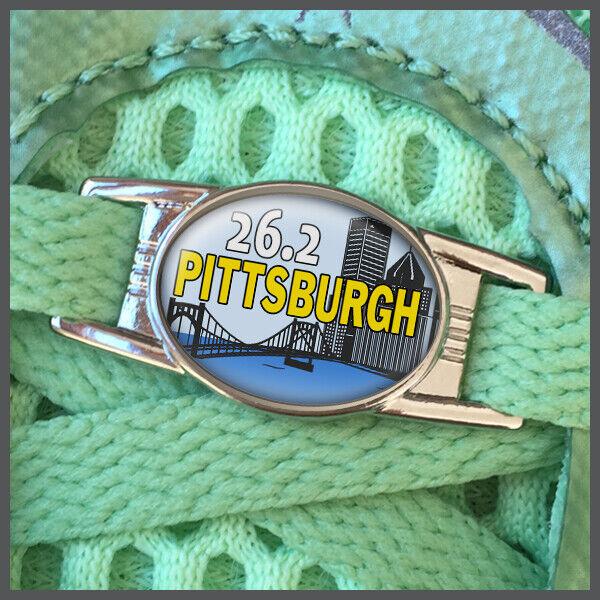 Pittsburgh 26.2 Marathon Runners Shoelace Shoe Charm or Zipper Pull