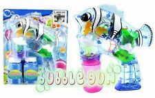 48 PCS LED Flashing Light Up Bubble Gun Battery Operated Bubble Blower WHOLESALE