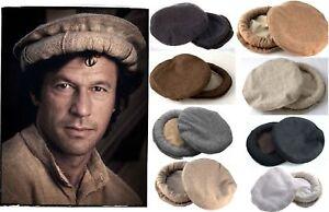 Image is loading Handmade-Original-Wool-Chitrali-Cap-Pakol-Hat-Peshawari- adfe5285787