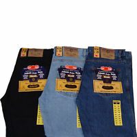 Mens Denim Jeans Mans Regular Fit Straight Leg Work Casual Wear Size 28-50 waist