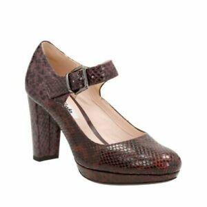 41 £ Kendra 60 Zapatos Uk Fit 7 Tan tacón Gaby Clarks Combi inteligentes de Rrp Wide IIUwq6v