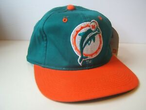 e9319a93 Image is loading Vintage-Miami-Dolphins-Hat -Sports-Specialties-Snapback-Baseball-