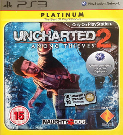 Uncharted 2: Among Thieves -- Platinum Edition (Sony PlayStation 3, 2010)