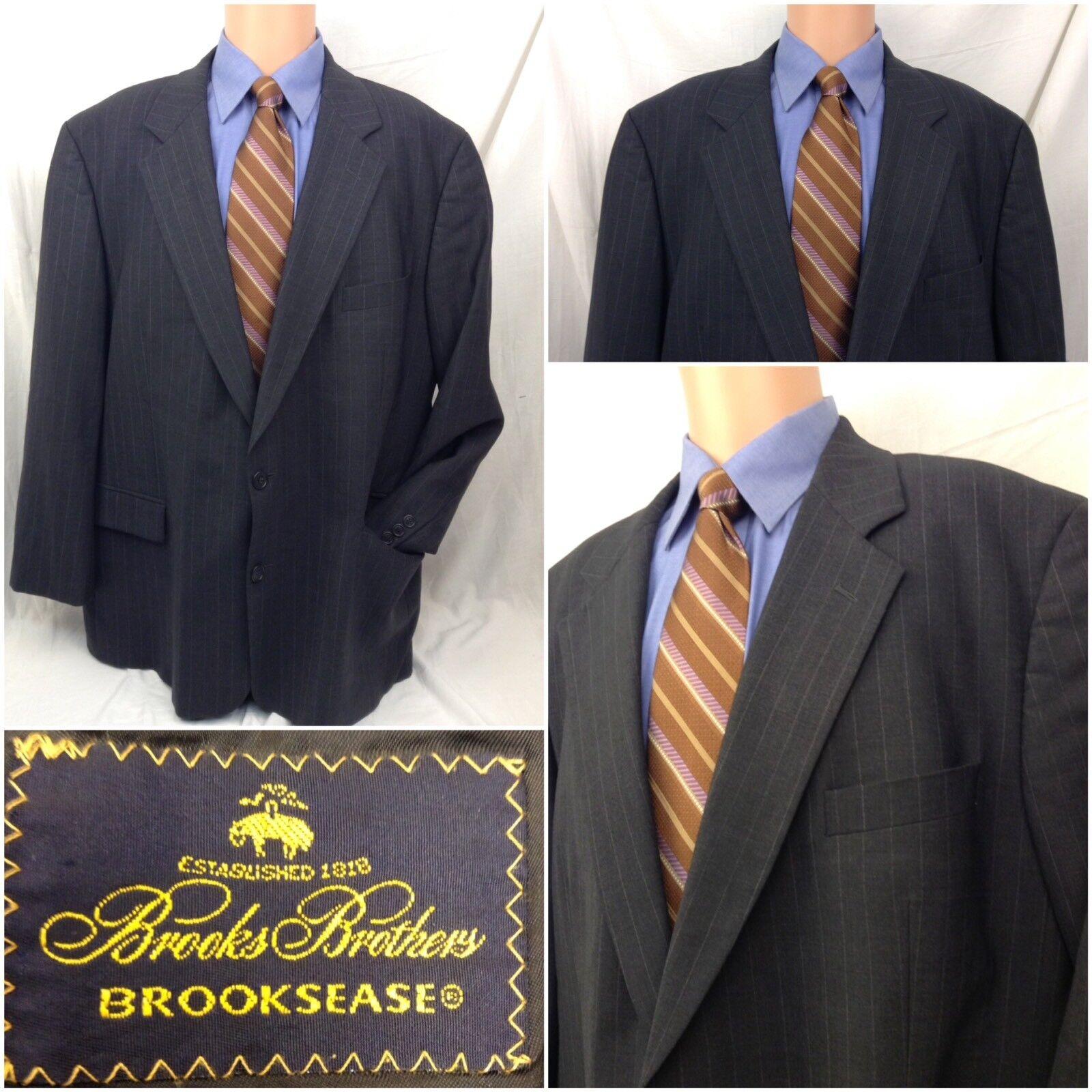 Brooks Brothers Brooksease Blazer 48R grau Pinstripe 2b 1v Isreal Mint A355